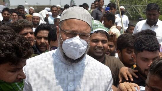 AIMIM President and Hyderabad MP Asaduddin Owaisi. (Sakib Ali /Hindustan Times)