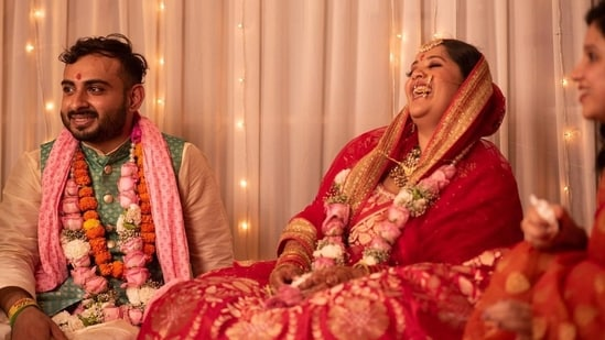 Dr Tanaya Narendra also known as Dr Cuterus on her wedding day(Instagram)