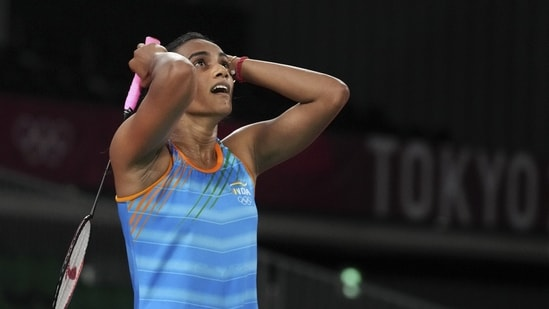Olympics: 'I am very happy, she has brought name and fame to country'- PV Sindhu's father on shuttler winning bronze.(PTI)