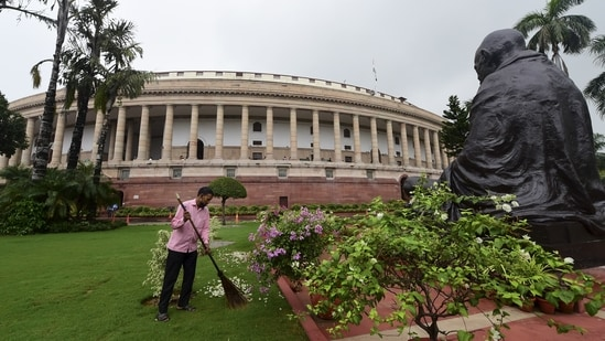 Parliament's monsoon session began on July 19. (PTI File Photo)