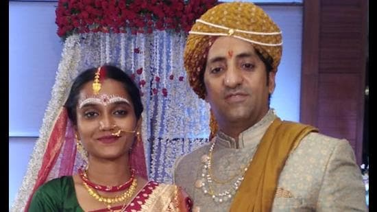 Actor Vikram Kochhar and cinematographer and art-production designer Kumari Kuhu tied the knot on July 12 in Hyderabad. (Sourced)