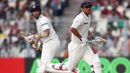 VVS Laxman and Rahul Dravid during the 2011 Test series in England. (Getty Images)