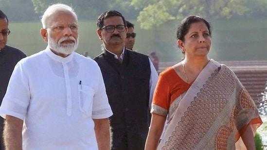 Prime Minister Narendra Modi and Union finance minister Nirmala Sitharaman. (File photo)