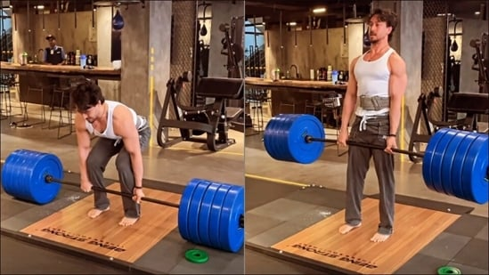 Tiger Shroff flaunts jaw-dropping deadlift skills and we are inspired to hit gym(Instagram/tigerjackieshroff)