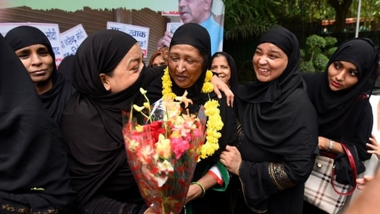 The central government enacted the law on August 1, 2019, that has made the practice of instant triple talaq a criminal offence.(HT FILE PHOTO)