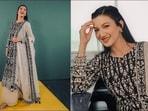Gauahar Khan looks breathtaking in <span class='webrupee'>₹</span>43k chanderi kalidaar kurta, sharara(Instagram/gauaharkhan)