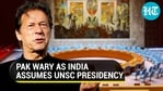 Pakistan reacted to India assuming the presidency of the UNSC (Agencies)