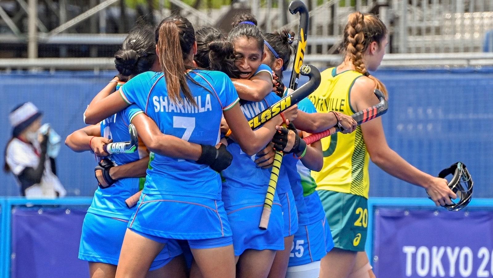 Tokyo Olympics: India create history, beat Australia 1-0 to reach  semifinals in women's hockey   Olympics - Hindustan Times
