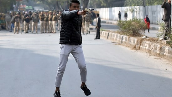 Gopal Sharma had grabbed headlines when he brandished a gun and opened fire at those protesting against the Citizenship (Amendment) Act in Delhi's Jamia Nagar area.(REUTERS)