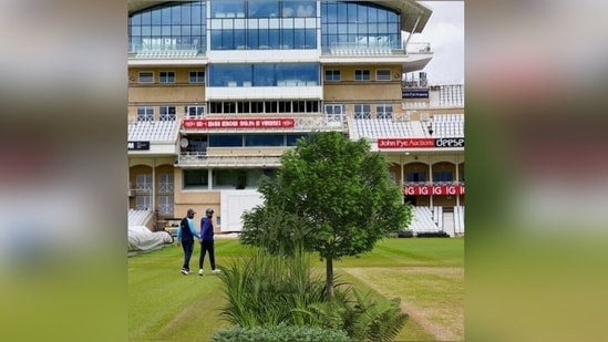 Photo of Trent Bridge pitch posted by Michael Vaughan(Michael Vaughan / Twitter)