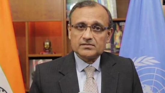 India's permanent ambassador to the UN TS Tirumurti said there are three major areas on which focus would remain in August -- maritime security, peacekeeping and counter-terrorism.(ANI Photo)