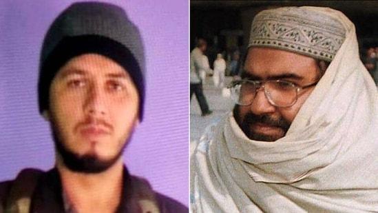 A combination photo showing Muhammad Ismail Alvi and Jaish-e-Mohammad chief Masood Azhar.