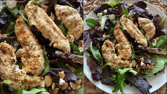 Recipe: Bookmark this grilled Greek chicken for your dinner rotation(Instagram/macrothrive)
