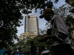 In the previous session, Sensex rallied 363.79 points or 0.69 per cent to finish at 52,950.63.(Bloomberg File Photo)