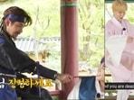 BTS members V, Jungkook, Jimin and Suga from Run BTS episode 145.