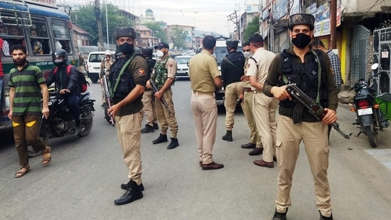 On June 17, an off-duty policeman was shot dead near his house in the old city's Saidapora area. (ANI Photo)