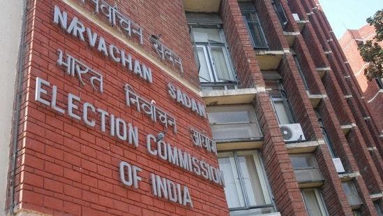 The commission, which comprises chief election commissioner Sushil Chandra and election commissioners Rajiv Kumar and Anup Chandra Pandey, will oversee the operations.(Arvind Yadav/HT File Photos)