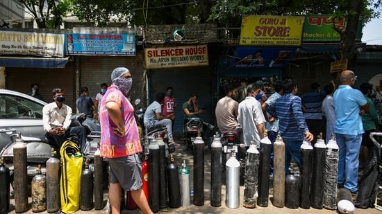 Delhi reported an acute shortage of oxygen in April. (Amal KS/HT PHOTO)