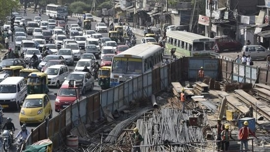 Planned areas in Delhi have an average of 1.6 times more road space and 1.4 times more open qualitative spaces than the unplanned areas. (File photo)