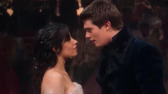 Camila Cabello stars with Nicholas Galitzine in Cinderella.