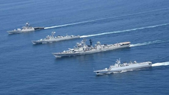 Quad navies at Malabar 2020 exercise.