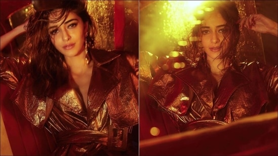 Ananya Panday's sizzling look in <span class='webrupee'>₹</span>22k golden metallic trench makes jaws drop(Amigos Communications)