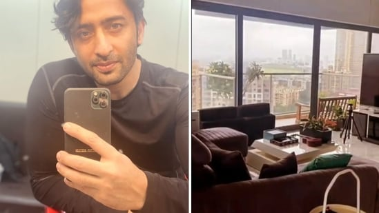 Shaheer Sheikh shared videos of his home on Instagram Stories.