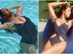 Priyanka Chopra and Salma Hayek strike a similar pose.