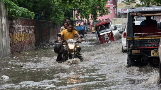 Rajasthan: Khatoli recorded the highest rainfall at 280 mm, followed by 258 mm in Bundi in the eastern part of the state, the weather department said. (ANI)