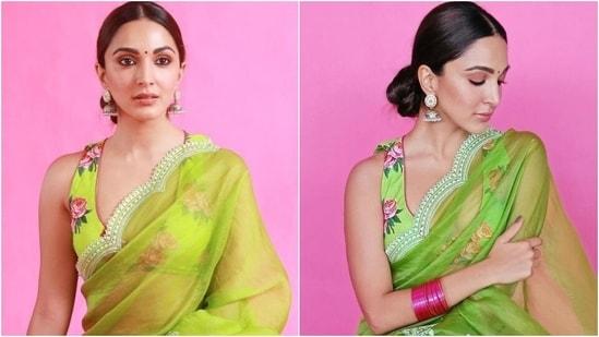 Kiara Advani promotes Shershaah in the most beautiful organza saree worth <span class='webrupee'>₹</span>48k(Instagram/@kiaraaliaadvani)