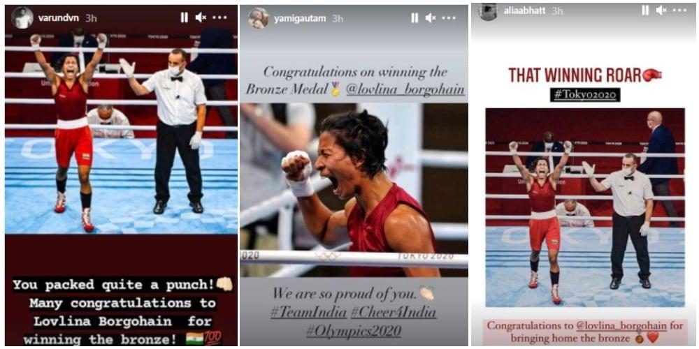Alia Bhatt, Yami Gautam and Varun Dhawan congratulated Lovlina.