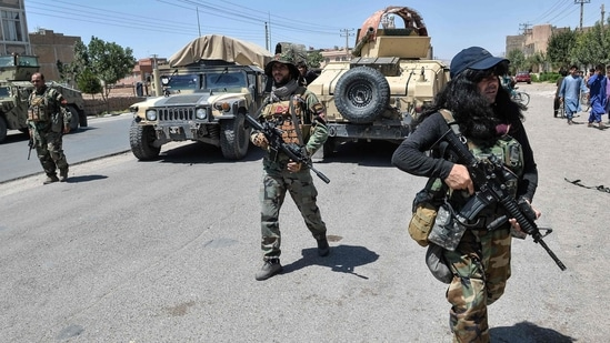 Afghan National Security Forces (ANSF) are reported to have pushed back the Taliban fighters in some areas in the last 24 hours.(AFP)