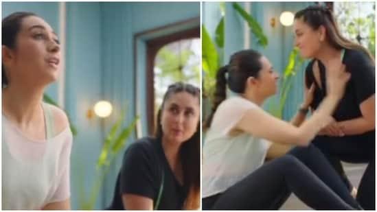 Karisma Kapoor and Kareena Kapoor came together for an ad.