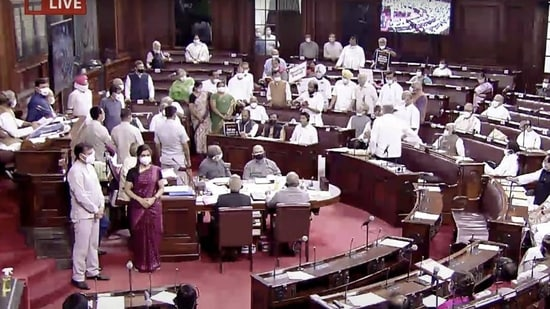 The bills were passed with a voice vote amid protests by the opposition members on the Pegasus snooping controversy and on the three farm laws that had been enacted recently. (ANI)