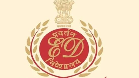 Logo of the Enforcement Directorate The businessman is under investigation by ED and the Central Bureau of Investigation (CBI) in multiple cases. (File photo)