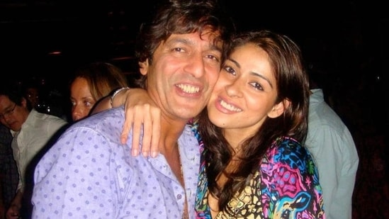Chunky Panday with his wife Bhavana.