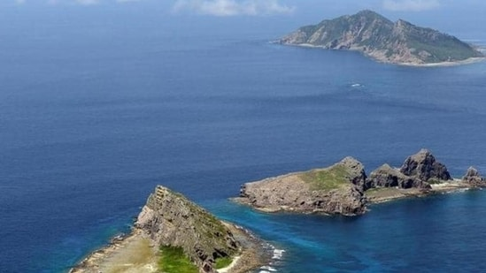 A group of disputed islands, Uotsuri island (top), Minamikojima (bottom) and Kitakojima, known as Senkaku in Japan and Diaoyu in China is seen in the East China Sea, in this photo taken by Kyodo. (File Photo / REUTERS)