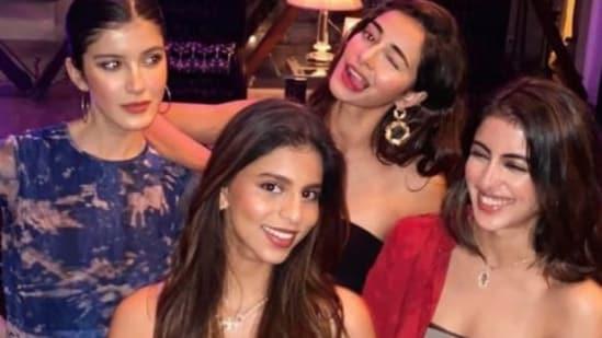Navya Naveli Nanda with her friends Suhana Khan, Ananya Panday and Shanaya Kapoor.