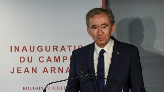 Bernard Arnault, the 72-year old French billionaire, heads the world's leading fashion brand Louis Vuitton Moet Hennessy (LVMH). (AFP File Photo)