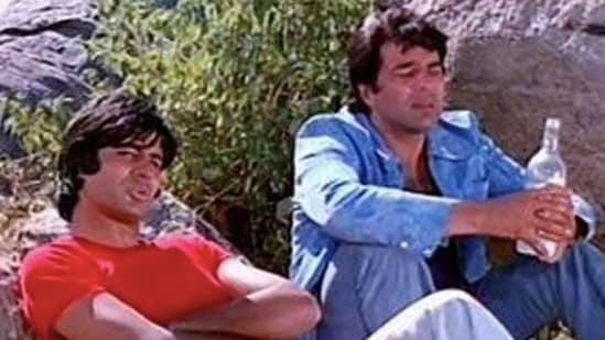 Amitabh Bachchan and Dharmendra in Sholay.