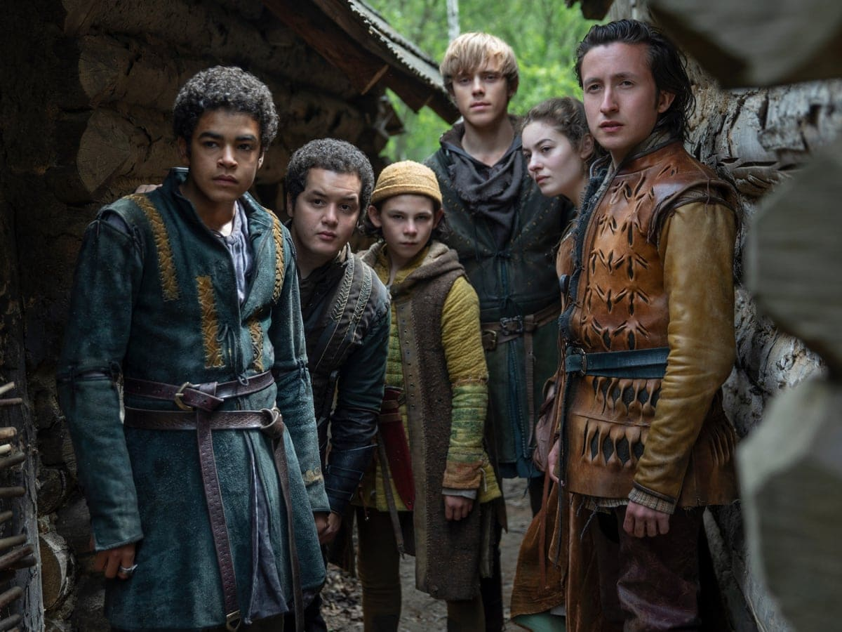 A new trope to love: There are more colors than in the history books.  Finally, there are Asians, blacks and actors of mixed origin in the main roles.  The young hero of The Letter to the King, Amir Wilson (far left), is black.