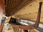 King Khufu's solar boat is displayed at a museum on the northern side of Khufu's Great Pyramid, in Giza, Egypt.(Reuters)