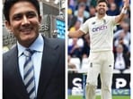 Anil Kumble and James Anderson collage.(File/AP)