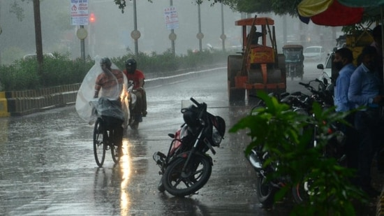 Monsoon arrived in Delhi on July 13, at least 16 days behind schedule.(HT Photo)