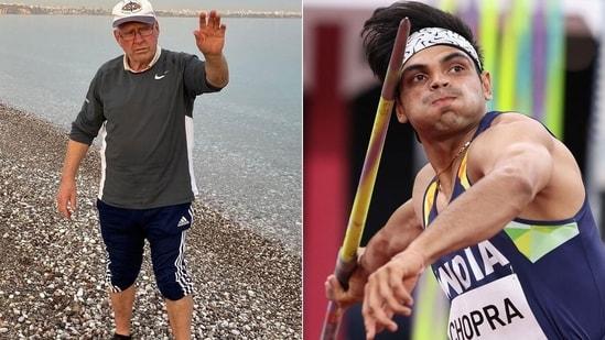 In November of 2019, Neeraj Chopra parted ways with Uwe Hohn to start training with Klaus Bartonietz (L). (Getty/Instagram)