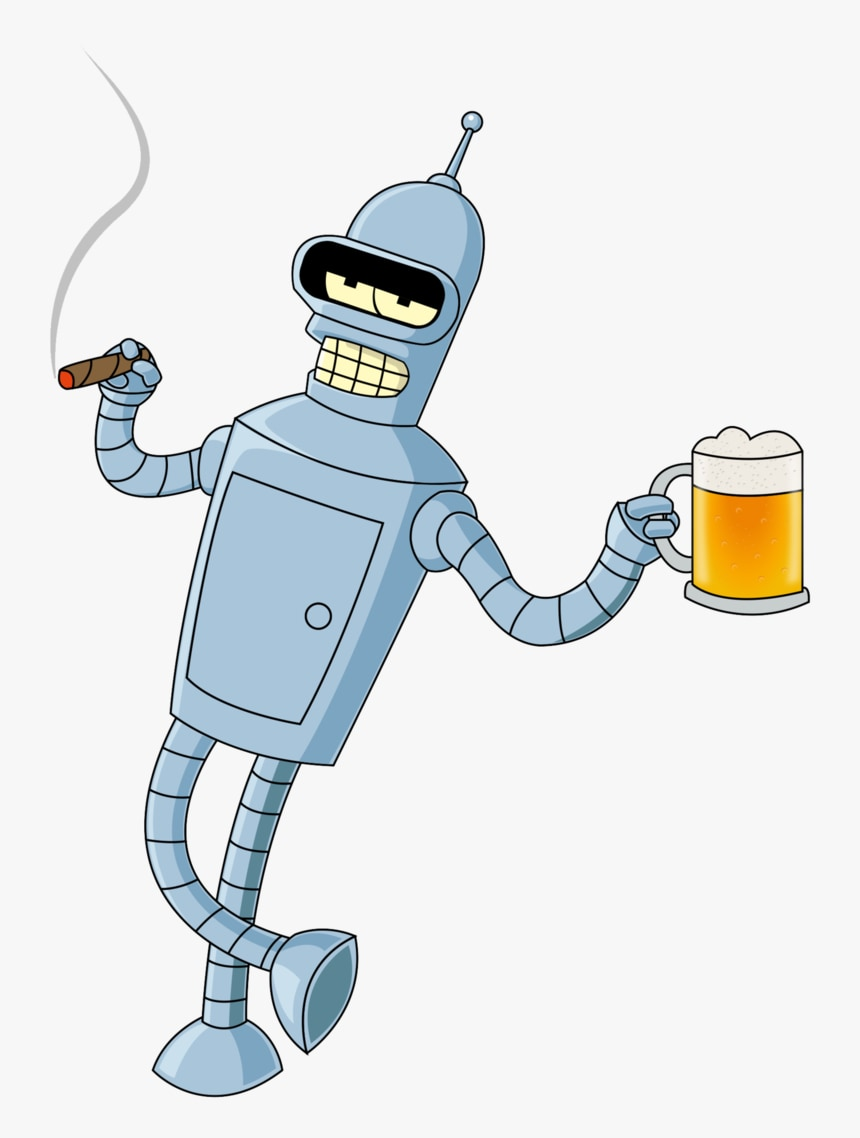 Bender smokes, drinks, has porn in his RAM and will occasionally gamble. But he's a good bot, the kind we need more of (Fox)