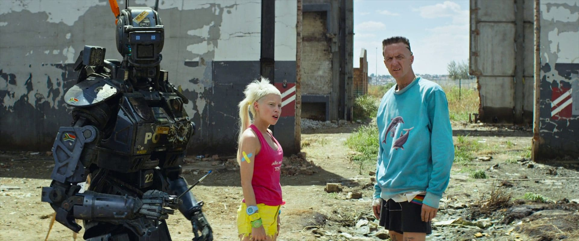Chappie, a bot that had gained self awareness, was almost childlike. Society quickly let him down. (Columbia Pictures)