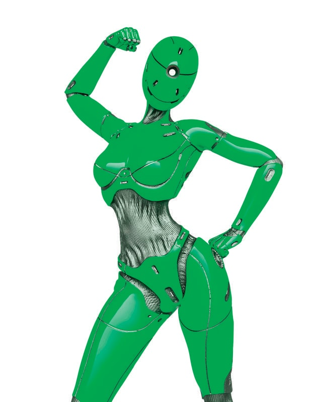 More robots are being designed to look like women, often because they appear less threatening. (Shutterstock)