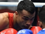 Vikas Krishan was knocked out in the first round at the Tokyo Olympics. (Getty Images)