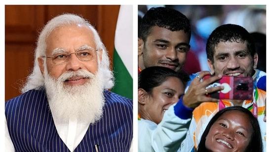 PM Modi congratulates Indian contingent.(Agencies)